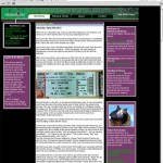 Glen Green's legacy website home page from May 22, 2012