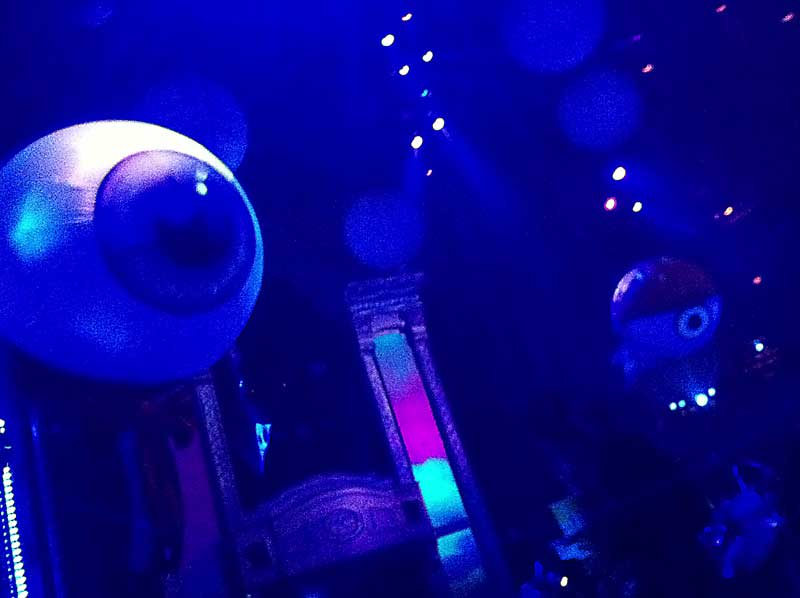 Floating Eyeballs, pre-show, Blue Man Group at the Monte Carlo Resort, Vegas Nevada - iPhone 4 Photo by Glen Green
