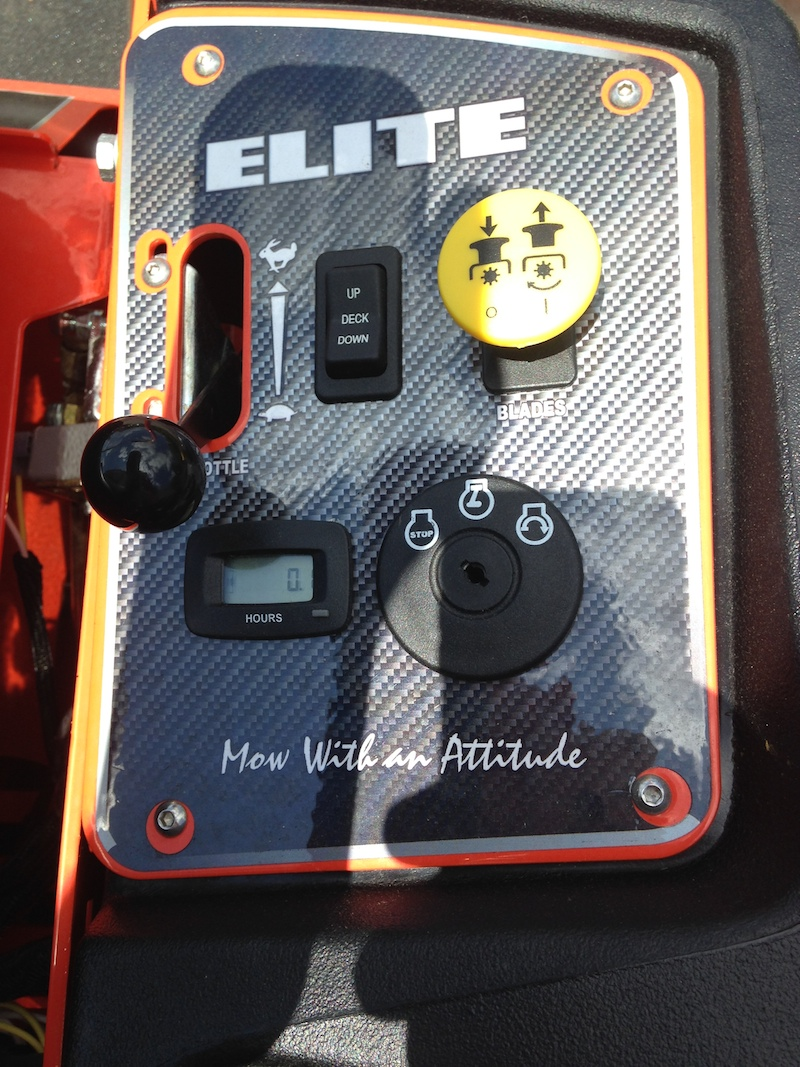 Elite Bad Boy Lawn Mower Control Panel