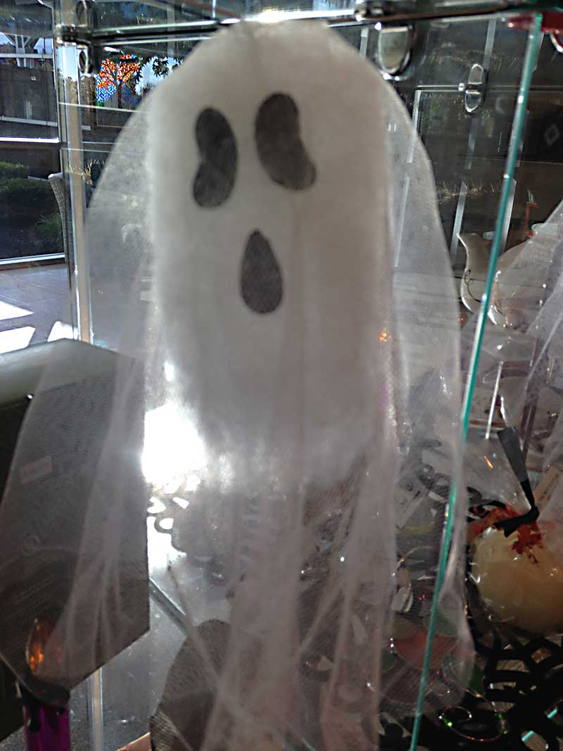 Gift shop ghost decoration