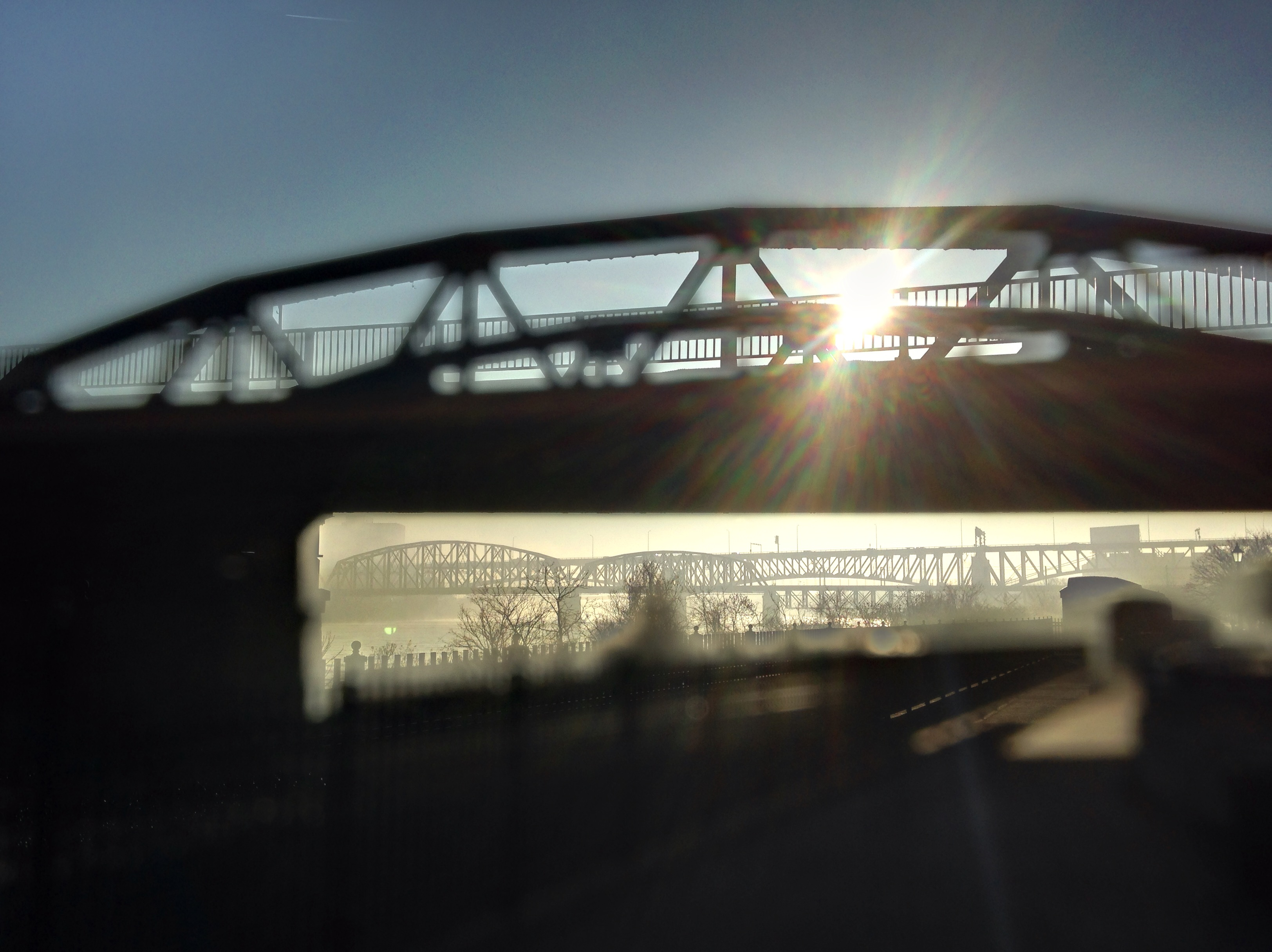 Smithfield Street Bridge on a Foggy March Morning - iPhone photo by Glen Green