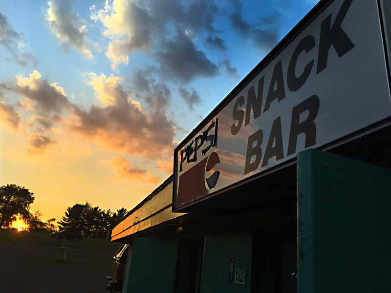Sunset at the drive-in snack bar