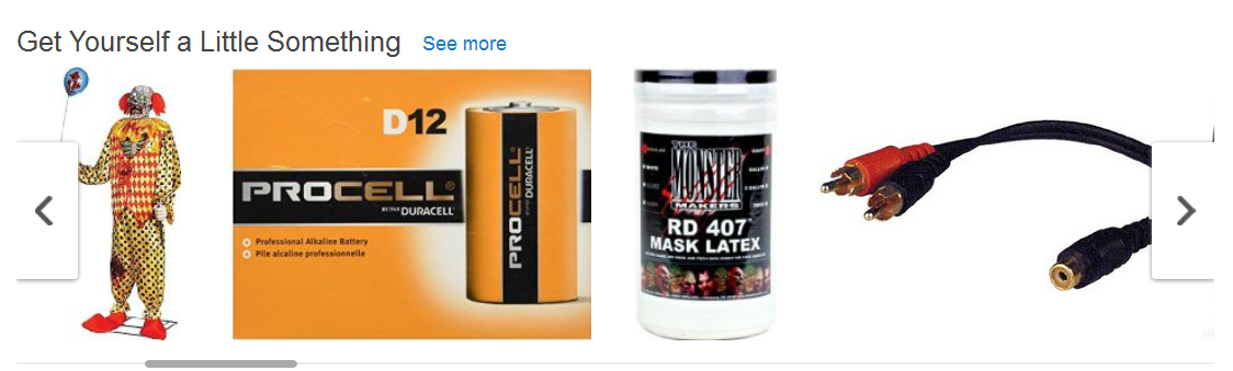 Based on Your Browsing History, Amazon Recommends...