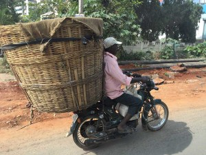 Motorcycle basket with huge basket