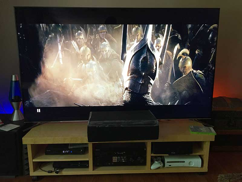 The Fellowship of the Ring on a Big Screen TV: Samsung UN75F8000 75-Inch 1080p 240Hz 3D Ultra Slim Smart LED HDTV