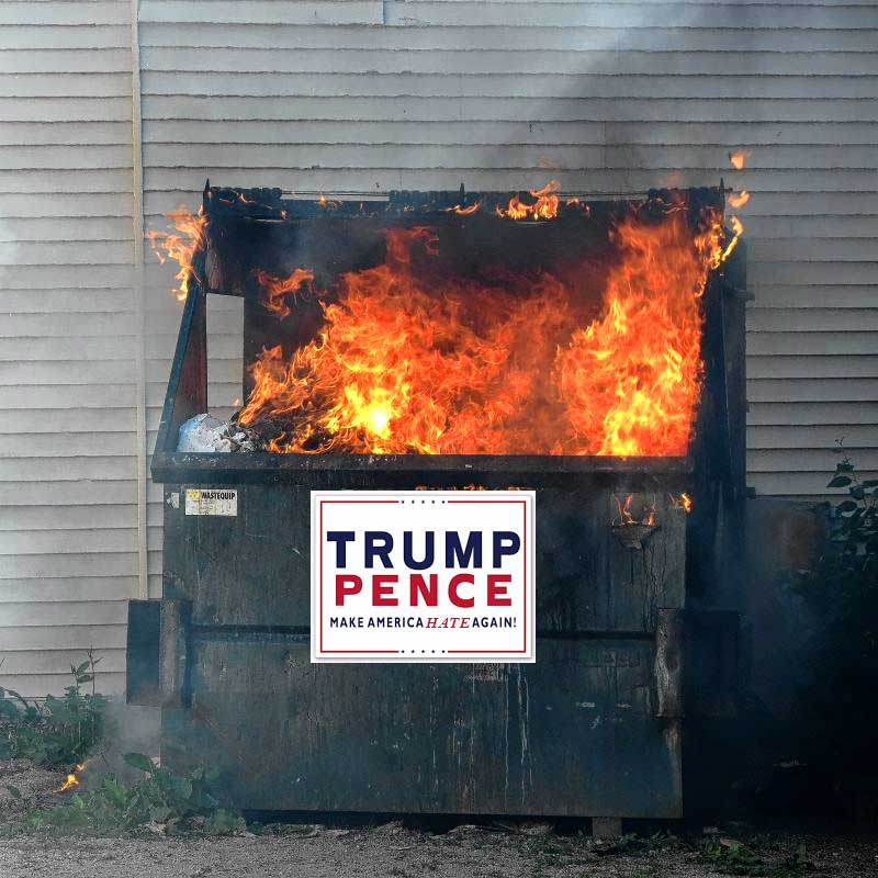 Donald Trump Dumpster Fire aka Trumpster Fire