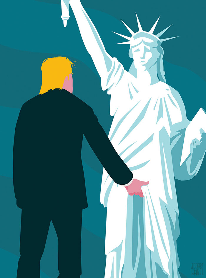 Trump grabs Liberty by the pussy.