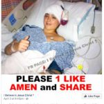 Because I have brain cancer nobody wants to pray for me