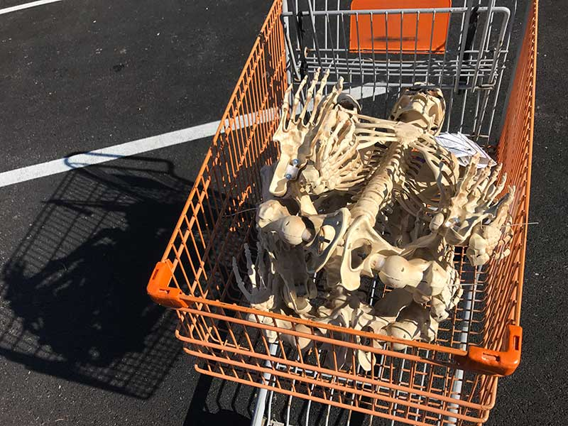 Corpsing a skeleton > Home Depot Shopping Cart