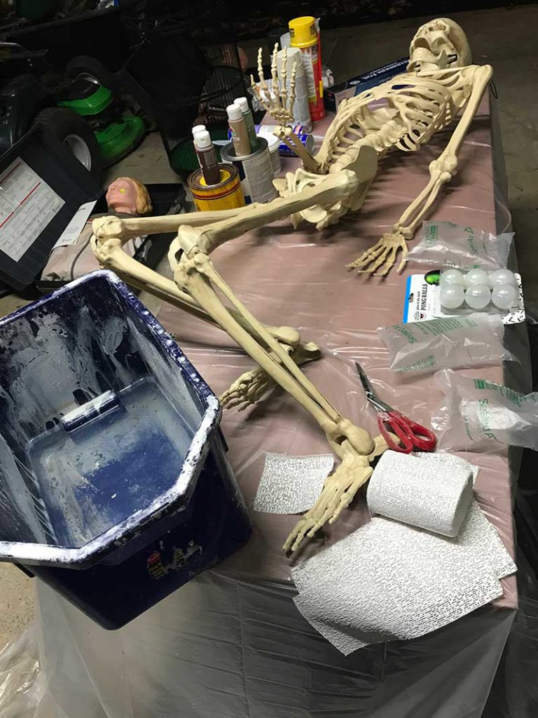Corpsing a skeleton > Craft Wrap Plaster Cloth Bandage