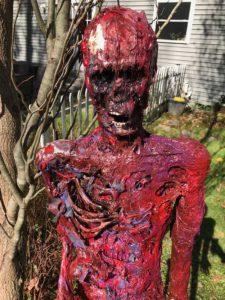Corpsing a skeleton > Closeup final head and torso
