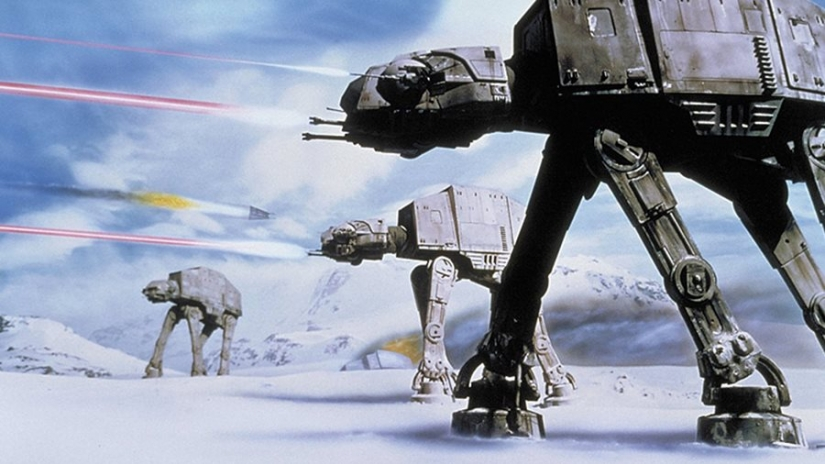 All Terrain Armored Transport, or AT-AT walker, planet Hoth.