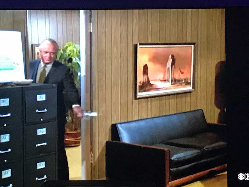 Mr. Phillips enter's Mike's office and invites the Bradys to spend a day on his boat.